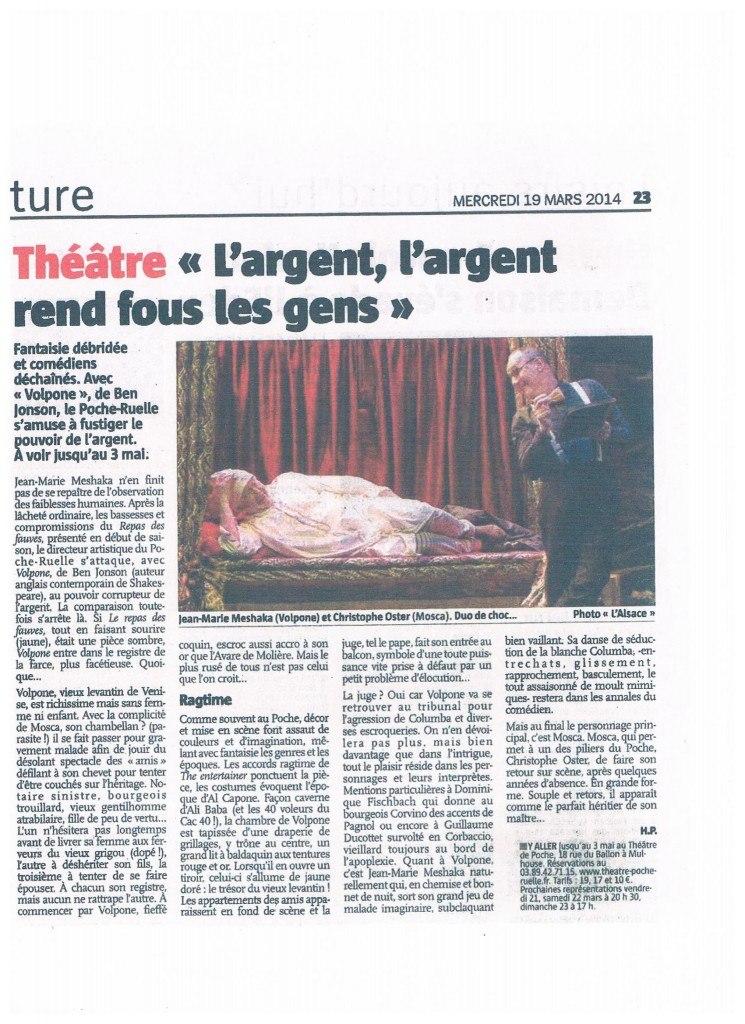 critique volpone l'ALSACE 19.03.2014 001